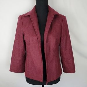 Wool Blend No Closure Blazer by Brooks Brothers